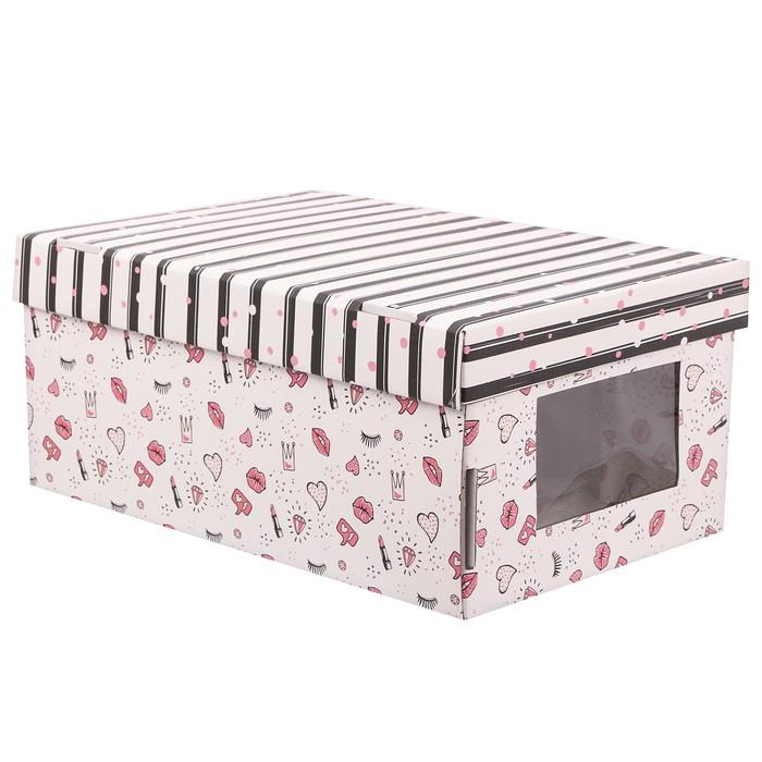 Складная коробка с PVC окошком «Девичьи фантазии», 34 × 23 × 15 см - фото 150916445