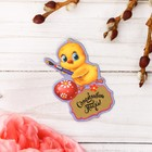 """Easter Magnet polymer with a scratch-layer """"Chicken-artist"""", 4.4 x 6.5 cm"""
