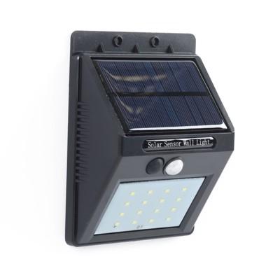 Светильник уличный с датчиком движения, солнечная батарея, 3,5 Вт, 16 LED черный