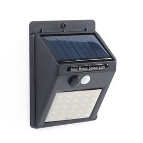 Светильник уличный с датчиком движения, солнечная батарея, 5 Вт, 25 LED БЕЛЫЙ