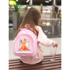 Рюкзак детский, отдел на молнии, с бутылкой для воды 500 мл, цвет розовый