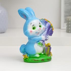 """Копилка """"Кролик с букетом роз"""" 17см"""