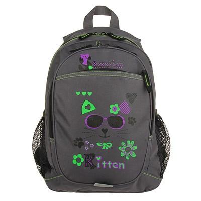 Рюкзак молодежный эргономичная спинка Stavia 41*27*15 «Очки», серый/лиловый/зелёный 67126