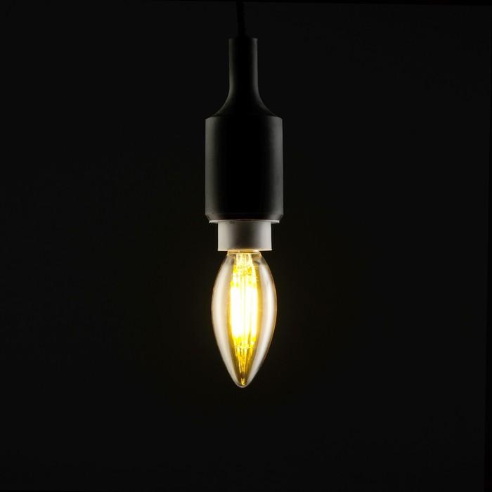 Лампа светодиодная, C37, 4 Вт, E14, 420 Лм, 2700 К, 220-240 В, теплый, золотистая