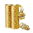 Серпантин фольгированный, голография, набор 2 столбика, 36 колец, цвет золотой