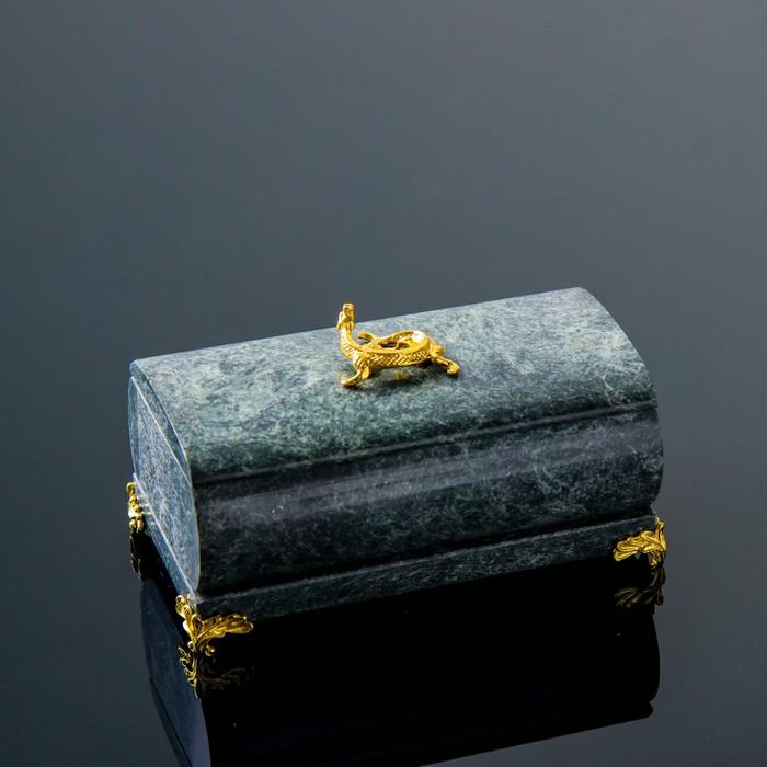 Шкатулка цилиндрическая с ящеркой и ножками