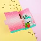 Духи в открытке для девочки