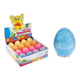 Шариковый пластилин крупнозернистый в яйце 8 г, не застывает, цвета МИКС