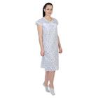 Сорочка женская Натали цвет белый, принт МИКС, р-р 46