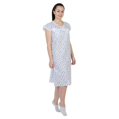 Сорочка женская Натали цвет белый, принт МИКС, р-р 60