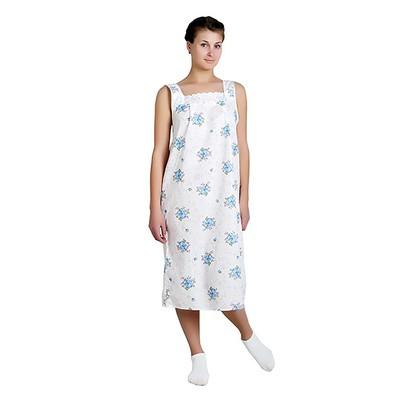 Сорочка женская Анжелика цвет белый, принт МИКС, р-р 48