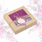 """Полотенце подарочное """"Этель"""" Для женщин, фиолетовый 70х140 см бамбук, 450 г/м²"""