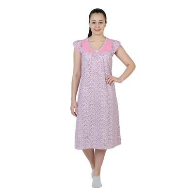 Сорочка женская Карина цвет розовый, р-р 58