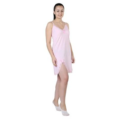 Сорочка женская Двойной ажур цвет розовый, р-р 54