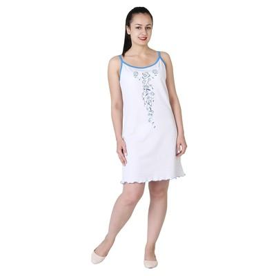 Сорочка женская Вьюнок цвет белый/синий, р-р 48