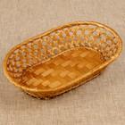 Фруктовница «Плетёнка», овальная, редкое плетение, 26х16х5 см, бамбук