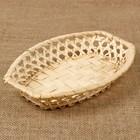 Фруктовница «Плетёнка», 23×15×3,5 см, бамбук