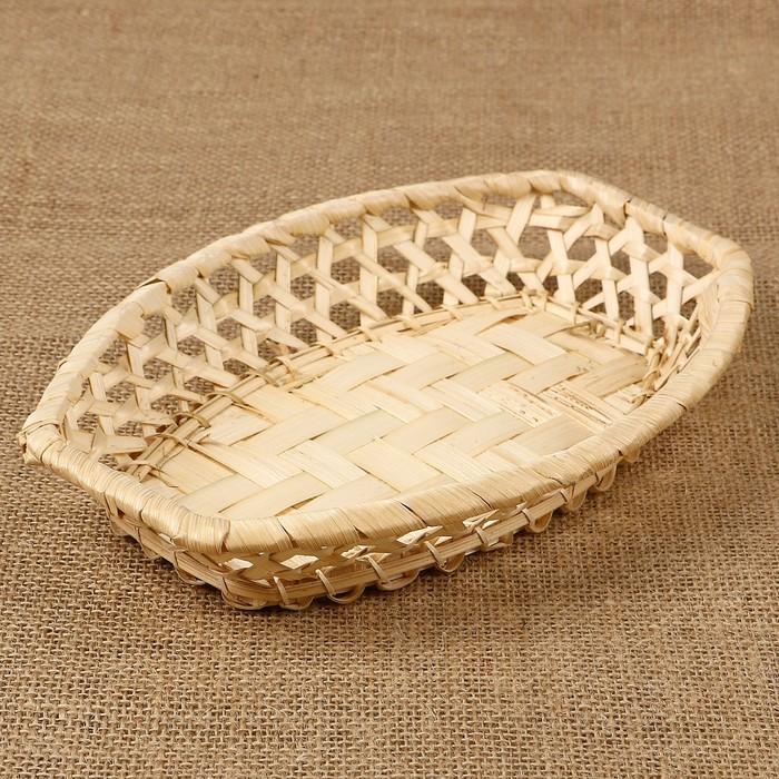 Фруктовница «Плетёнка», 23х15х3,5 см, бамбук