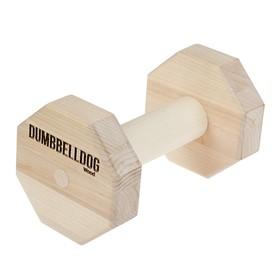 Снаряд для апортировки Dumbbelldog wood малый, дерево, 400 г Ош