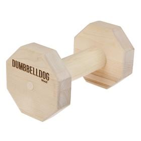 Снаряд для апортировки Dumbbelldog wood средний, дерево, 650 г Ош