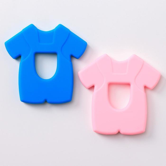 Прорезыватель силиконовый «Рубашка», цвет МИКС - фото 76135362