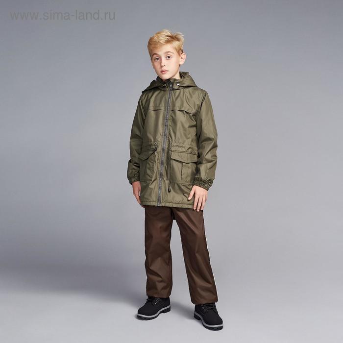 Ветровка для мальчика, рост 104 см, цвет хаки