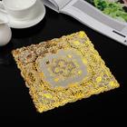 "Openwork napkin 20x20 PVC ""Bouquet"" gold"