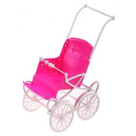 Коляска для куклы, сидячая (цвет розовый) Ош
