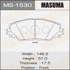 Колодки дисковые  Masuma MS1530