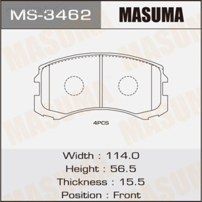 Колодки тормозные MASUMA MS3462