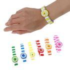 Часы детские, на резиночке, цвета МИКС, стрелочки нарисованы