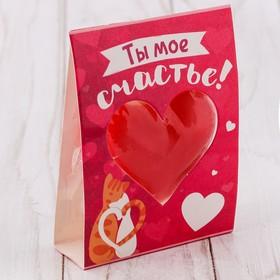 Свеча-сердце 'Ты мое счастье' 11 х 6,5 см Ош