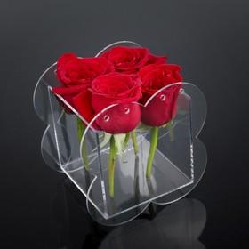 Коробка акриловая для цветов 16 х 12,5 х 16 см