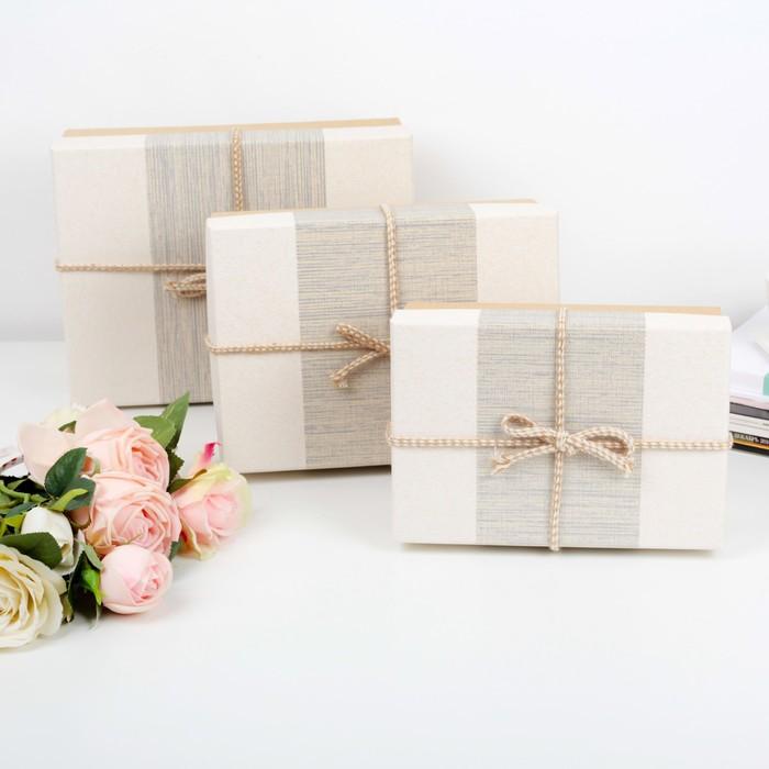 Набор коробок 3 в 1, 28 х 21 х 11 - 22 х 15 х 9 см - фото 725781102