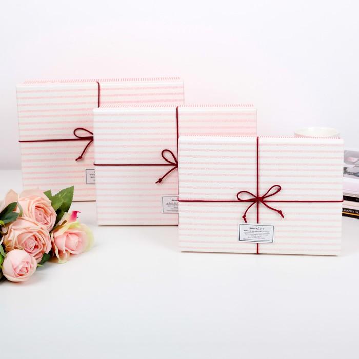 Набор коробок 3 в 1, 29 х 21 х 8,5 - 24 х 17 х 6,5 см - фото 725781122