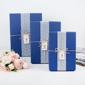 Set boxes 3in1, blue, 33 x 25 x 11.5 24 x 17 x 6.5 cm