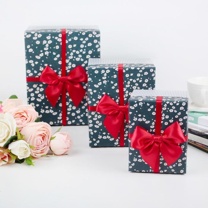 Набор коробок 3 в 1, 22 х 16 х 13 - 13 х 10 х 9 см - фото 725781137