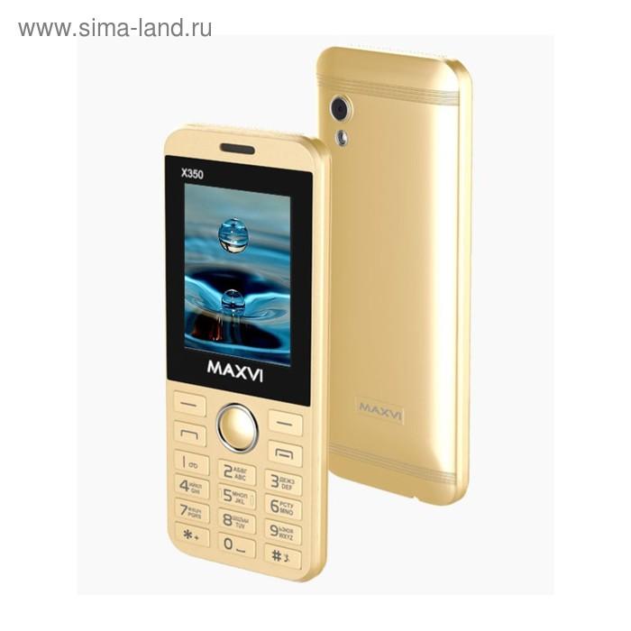 Сотовый телефон Maxvi X350 Metallic Gold, цвет золотой металлик