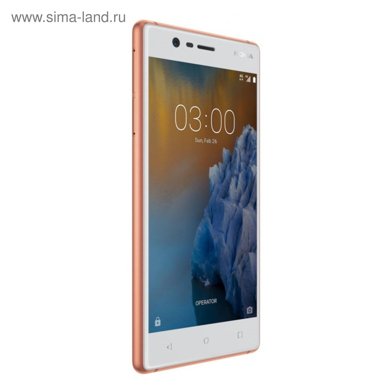 d406639063f3a Смартфон Nokia 3 DS Copper White LTE TA-1032, цвет медный белый ...