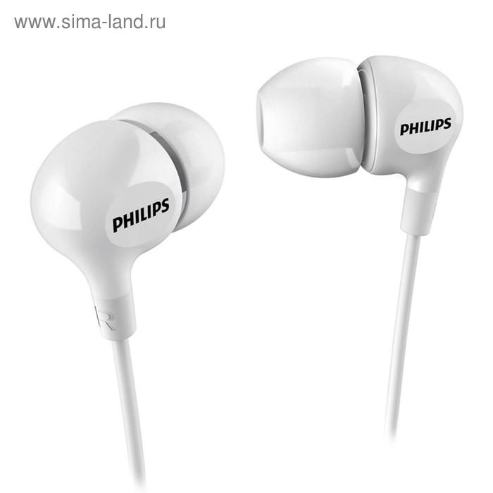 Наушники Philips she 3550WT, вкладыши вакуумные, белые