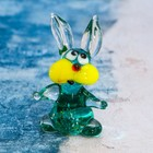 "Сувенир стекло средняя фигурка ""Заяц - Косой"" 4,5х2х3 см  МИКС"
