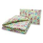 Комплект в кроватку: одеяло 110х140 см, подушка 40х60 см, совушки зел, хл100% бязь