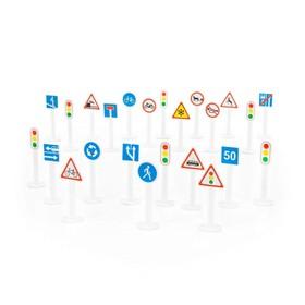 Набор дорожных знаков №3 (24 элемента) (в пакете) 64219 Ош