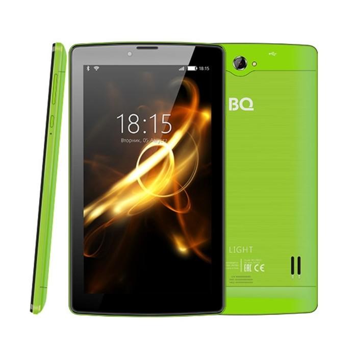 """Планшет BQ  7083G Light Green 7"""", 1024*600, TN, 4*1.0Ghz, 1+8Гб, GPS, 7.0, счетло-зеленый"""