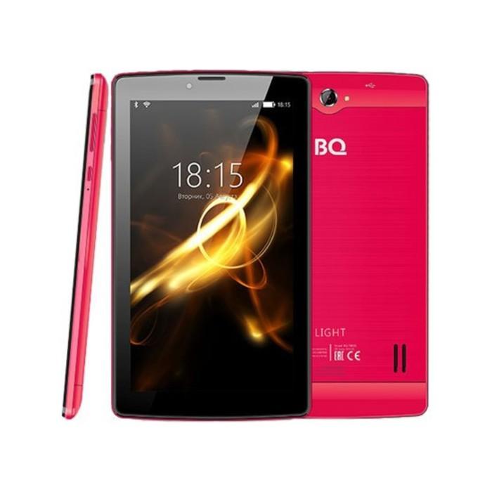 """Планшет BQ  7083G Light Red 7"""", 1024х600, TN, 4*1.0Ghz, 1+8Гб, GPS, 7.0, розовый"""