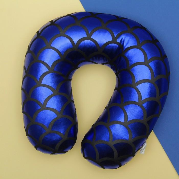 Игрушка-антистресс «Чешуйчатый узор», подголовник, цвет синий