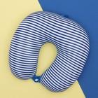 Антистресс-подголовник «Полосатик» с заклёпкой, цвет синий