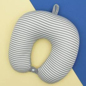Подголовник-антистресс «Полосатик», с заклёпкой, цвет серый