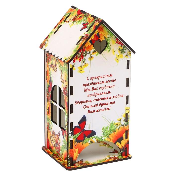 Чайный домик «Цветы и бабочки», 9,3х9,3х20 см