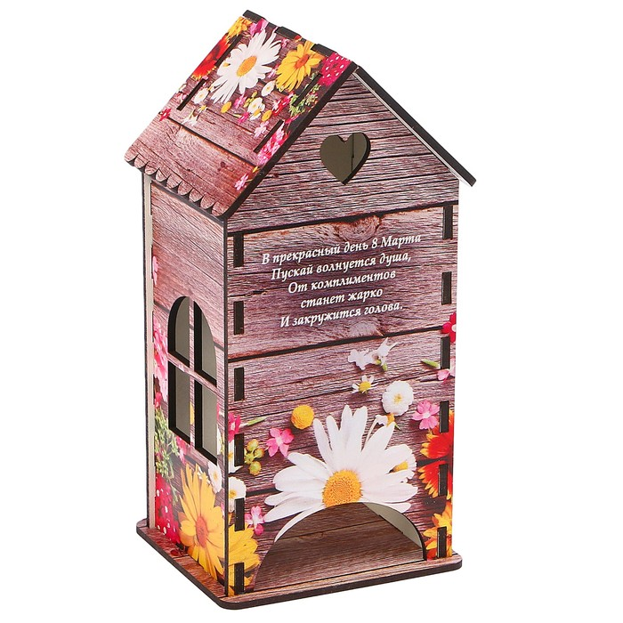 Чайный домик «Весенние цветы», 9,3х9,3х20 см